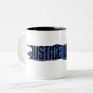 Justice League | Blue Stroke Justice League Logo Two-Tone Coffee Mug