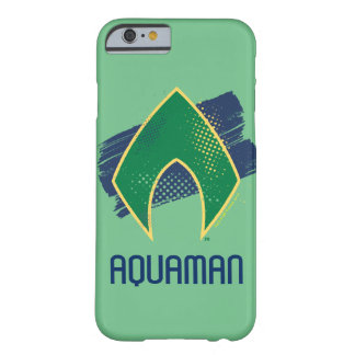 Justice League | Brush & Halftone Aquaman Symbol Barely There iPhone 6 Case