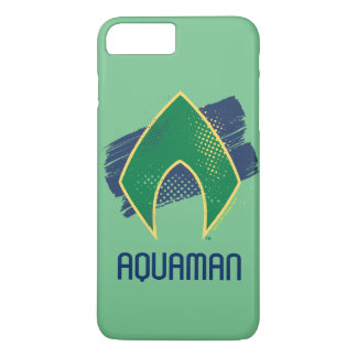 Justice League | Brush & Halftone Aquaman Symbol iPhone 8 Plus/7 Plus Case