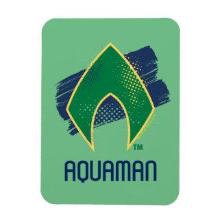 Justice League   Brush & Halftone Aquaman Symbol Magnet