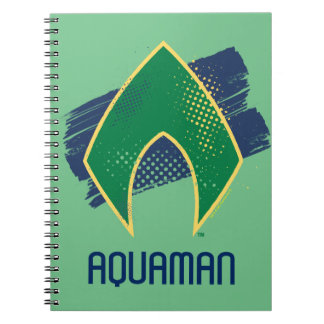 Justice League | Brush & Halftone Aquaman Symbol Notebook