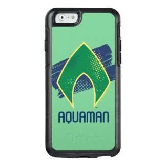 Justice League | Brush & Halftone Aquaman Symbol OtterBox iPhone 6/6s Case