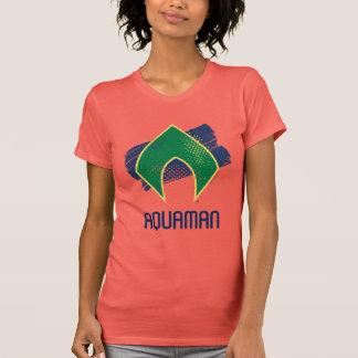 Justice League | Brush & Halftone Aquaman Symbol T-Shirt