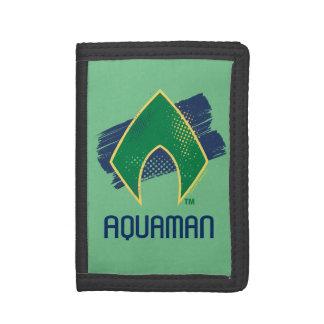 Justice League | Brush & Halftone Aquaman Symbol Tri-fold Wallet