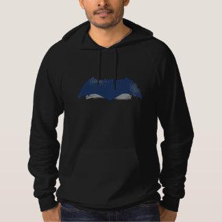 Justice League   Brush & Halftone Batman Symbol Hoodie