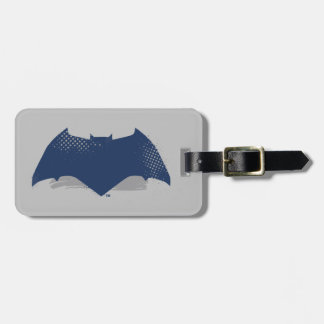 Justice League | Brush & Halftone Batman Symbol Luggage Tag