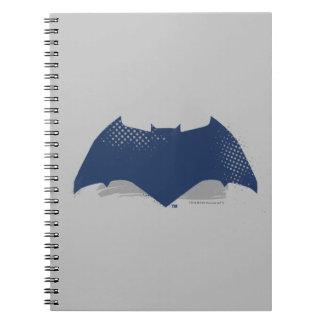 Justice League | Brush & Halftone Batman Symbol Spiral Notebook