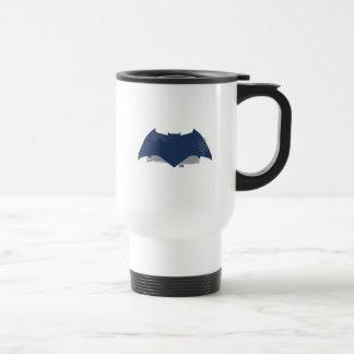Justice League | Brush & Halftone Batman Symbol Travel Mug