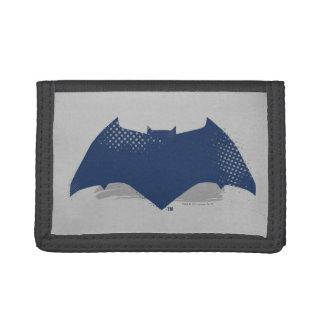 Justice League | Brush & Halftone Batman Symbol Tri-fold Wallet