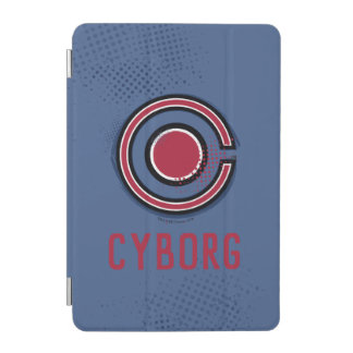 Justice League | Brush & Halftone Cyborg Symbol iPad Mini Cover