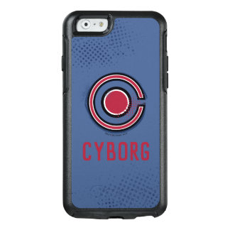 Justice League | Brush & Halftone Cyborg Symbol OtterBox iPhone 6/6s Case