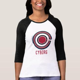 Justice League | Brush & Halftone Cyborg Symbol T-Shirt