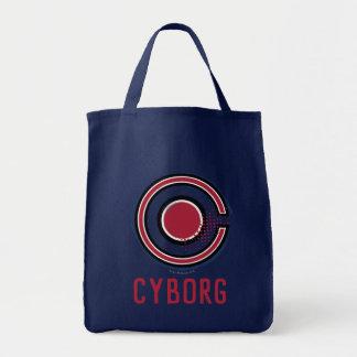 Justice League | Brush & Halftone Cyborg Symbol Tote Bag