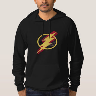Justice League   Brush & Halftone Flash Symbol Hoodie