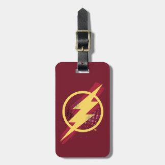 Justice League | Brush & Halftone Flash Symbol Luggage Tag