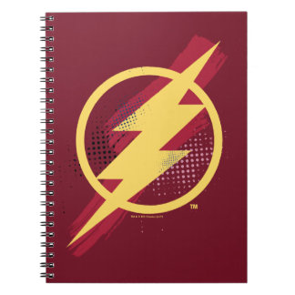 Justice League | Brush & Halftone Flash Symbol Notebook