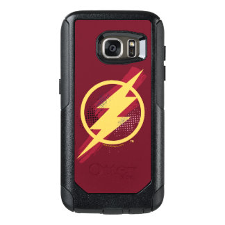 Justice League | Brush & Halftone Flash Symbol OtterBox Samsung Galaxy S7 Case
