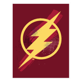 Justice League | Brush & Halftone Flash Symbol Postcard