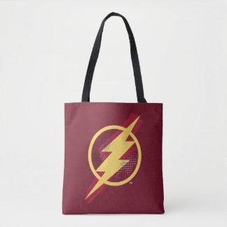 Justice League | Brush & Halftone Flash Symbol Tote Bag