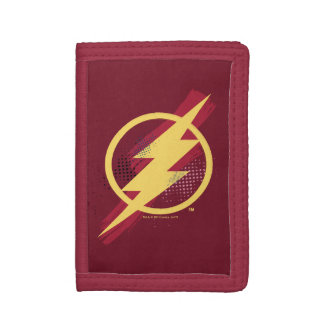 Justice League | Brush & Halftone Flash Symbol Trifold Wallet