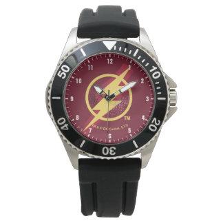 Justice League | Brush & Halftone Flash Symbol Watch