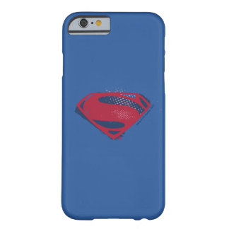 Justice League | Brush & Halftone Superman Symbol Barely There iPhone 6 Case