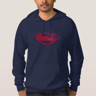 Justice League   Brush & Halftone Superman Symbol Hoodie