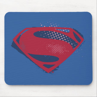 Justice League | Brush & Halftone Superman Symbol Mouse Mat