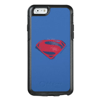 Justice League | Brush & Halftone Superman Symbol OtterBox iPhone 6/6s Case