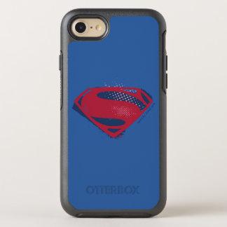 Justice League | Brush & Halftone Superman Symbol OtterBox Symmetry iPhone 8/7 Case