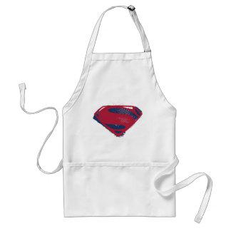 Justice League | Brush & Halftone Superman Symbol Standard Apron