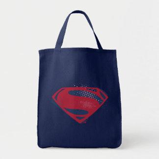 Justice League | Brush & Halftone Superman Symbol Tote Bag