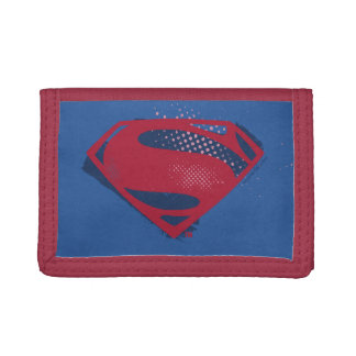 Justice League | Brush & Halftone Superman Symbol Trifold Wallets