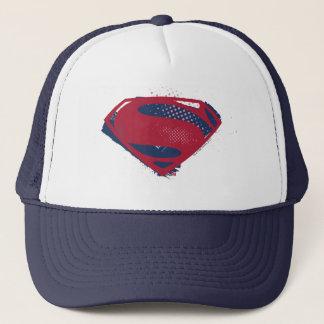 Justice League | Brush & Halftone Superman Symbol Trucker Hat