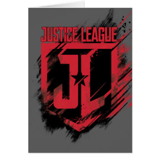 Justice League | Brushed Paint JL Shield Card