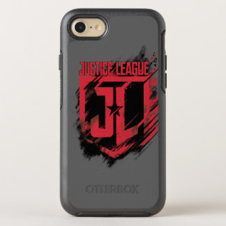Justice League | Brushed Paint JL Shield OtterBox Symmetry iPhone 8/7 Case