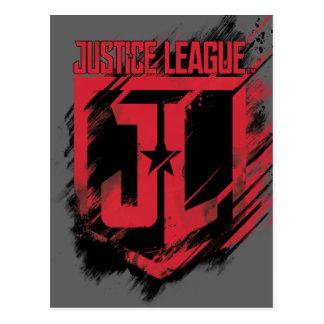 Justice League | Brushed Paint JL Shield Postcard