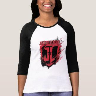Justice League | Brushed Paint JL Shield T-Shirt