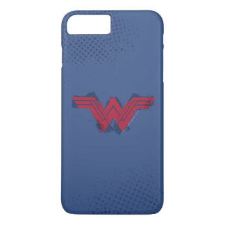 Justice League | Brushed Wonder Woman Symbol iPhone 8 Plus/7 Plus Case