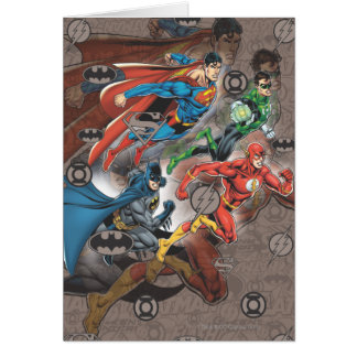 Justice League Collage Card