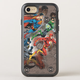 Justice League Collage OtterBox Symmetry iPhone 8/7 Case