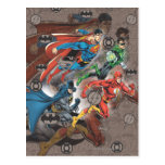 Justice League Collage Post Card