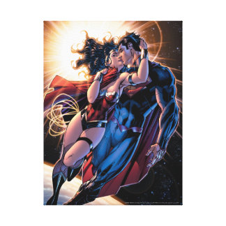 Justice League Comic Cover #12 Variant Canvas Print