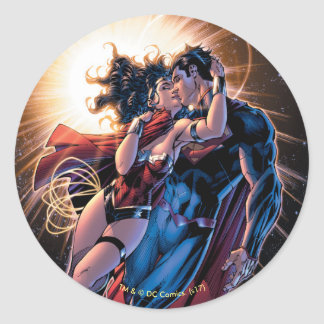 Justice League Comic Cover #12 Variant Classic Round Sticker