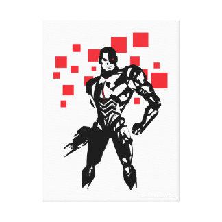Justice League | Cyborg Digital Noir Pop Art Canvas Print