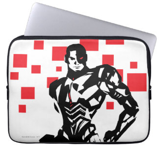 Justice League | Cyborg Digital Noir Pop Art Laptop Sleeve