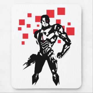 Justice League   Cyborg Digital Noir Pop Art Mouse Mat