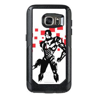 Justice League | Cyborg Digital Noir Pop Art OtterBox Samsung Galaxy S7 Case