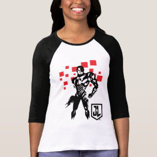 Justice League | Cyborg Digital Noir Pop Art T-Shirt