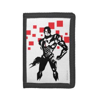Justice League | Cyborg Digital Noir Pop Art Tri-fold Wallets